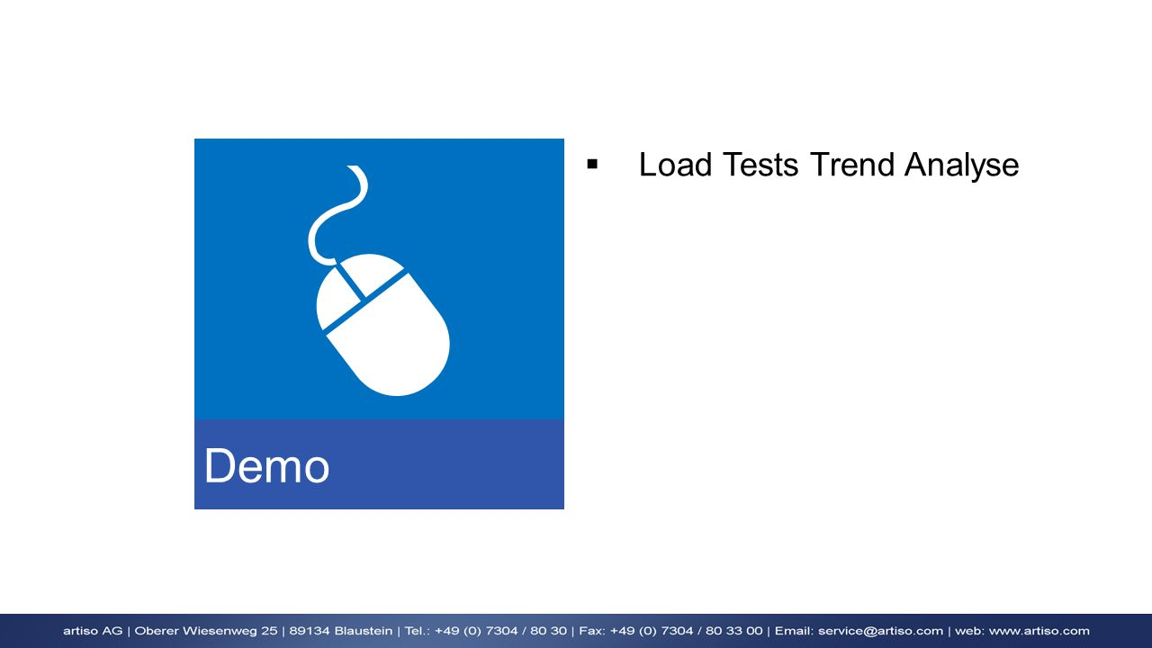 Demo Load Tests Trend Analyse