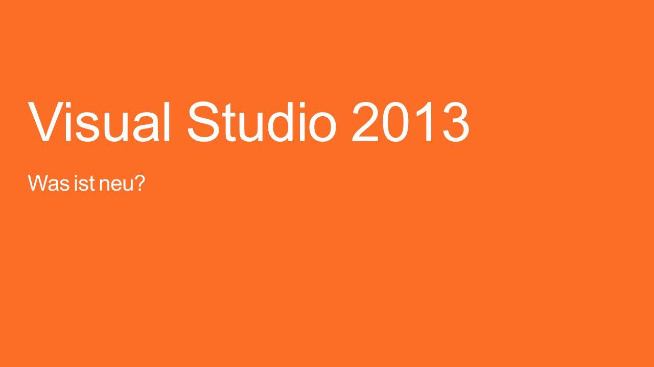Visual Studio 2013 Was ist neu