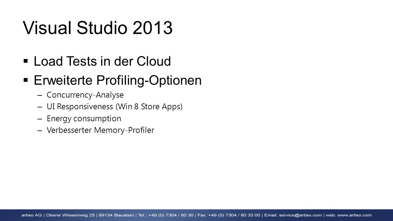 Visual Studio 2013 Load Tests in der Cloud