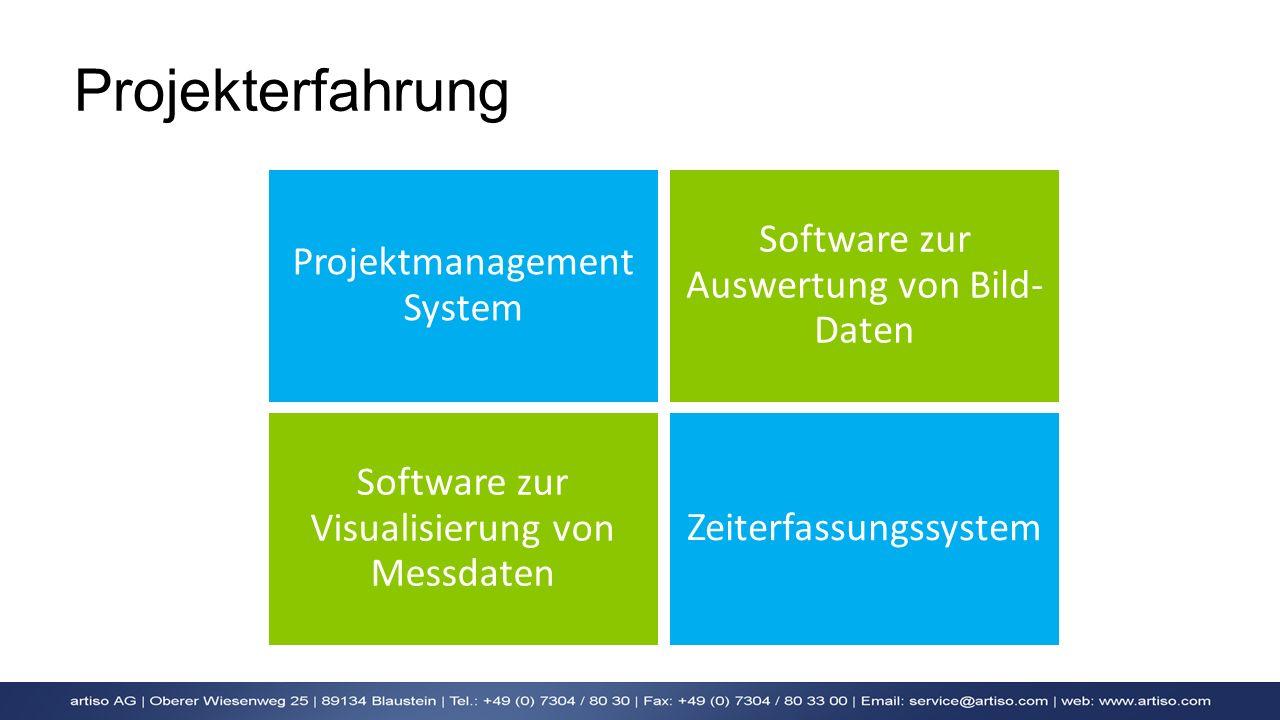 Projekterfahrung Software zur Auswertung von Bild-Daten