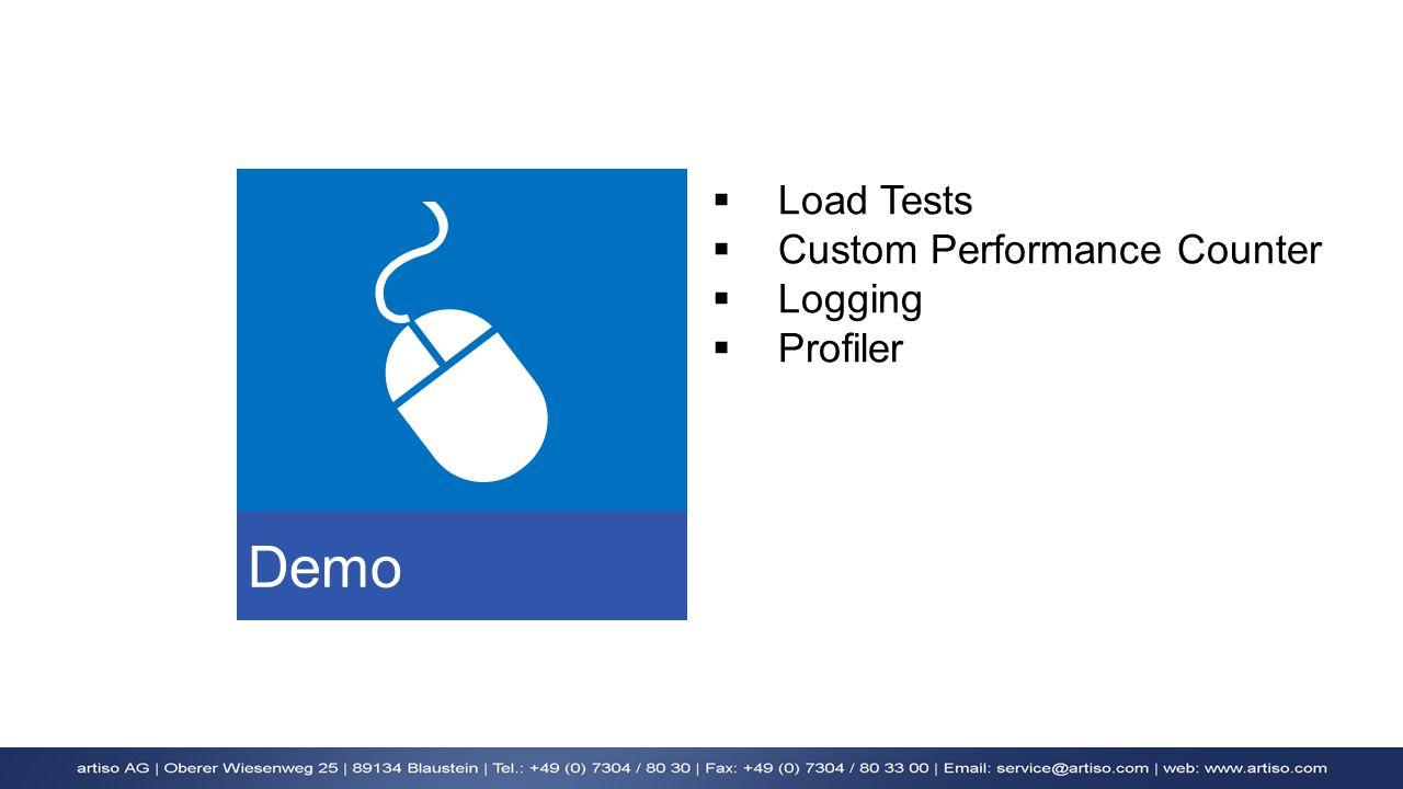 Demo Load Tests Custom Performance Counter Logging Profiler