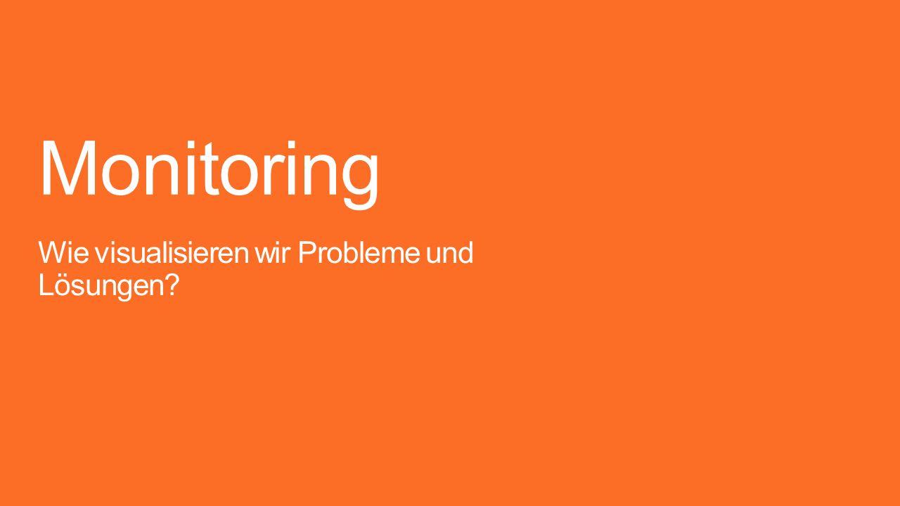 Monitoring Wie visualisieren wir Probleme und Lösungen