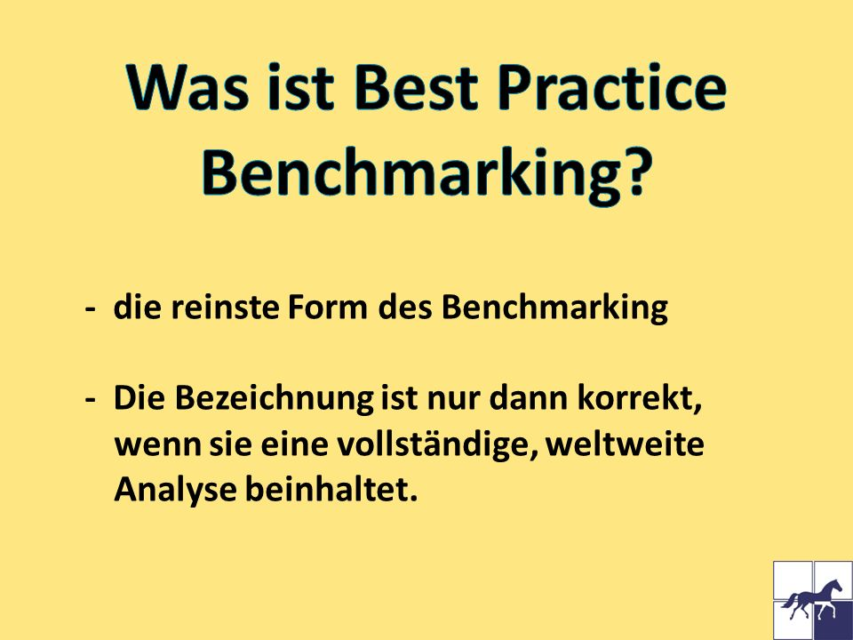 Was ist Best Practice Benchmarking
