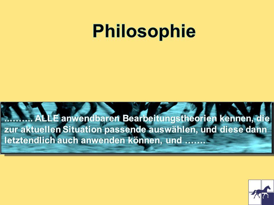 Philosophie ..…….. ALLE anwendbaren Bearbeitungstheorien kennen, die