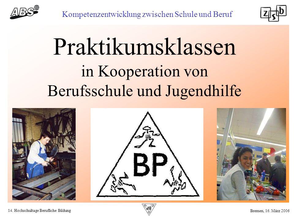 Praktikumsklassen in Kooperation von Berufsschule und Jugendhilfe