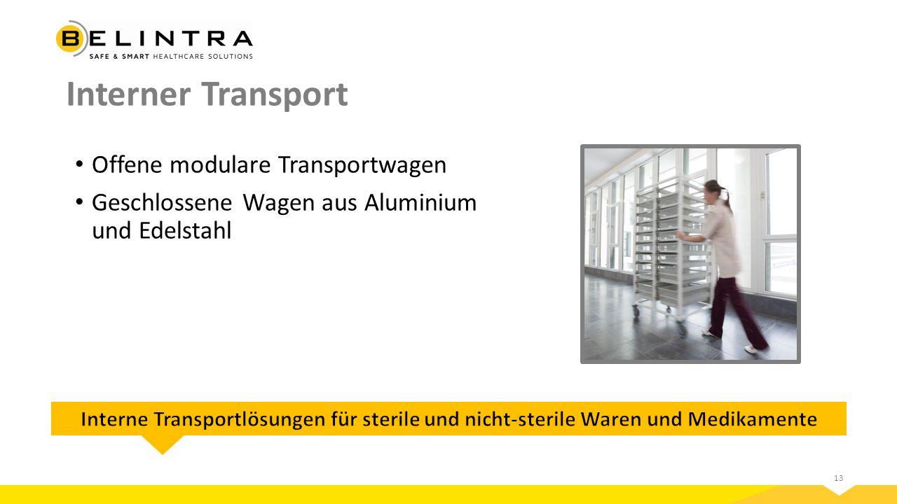 Interner Transport Offene modulare Transportwagen