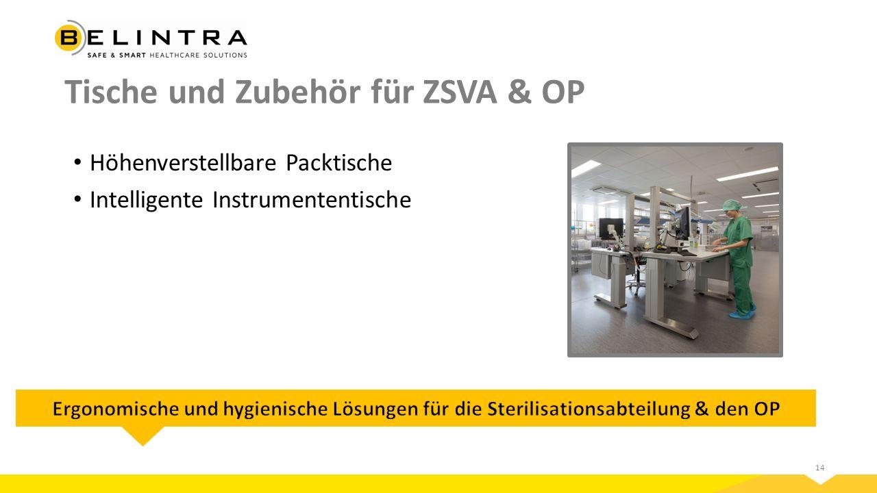 Tische und Zubehör für ZSVA & OP