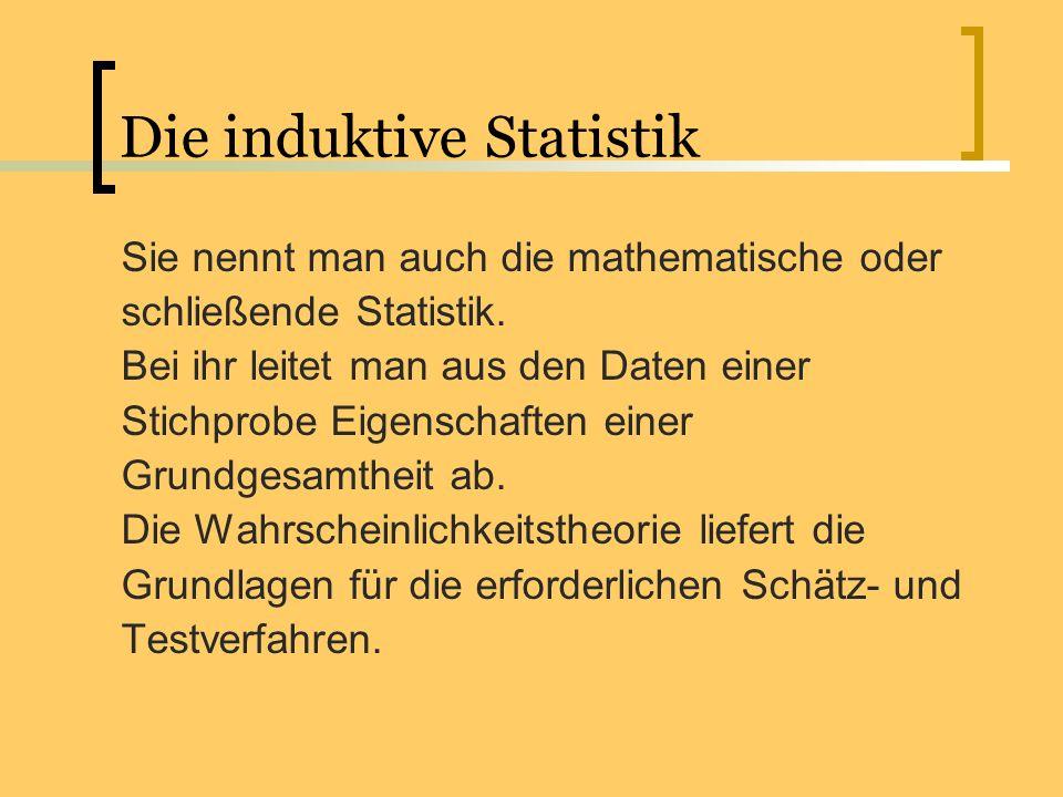 Die induktive Statistik