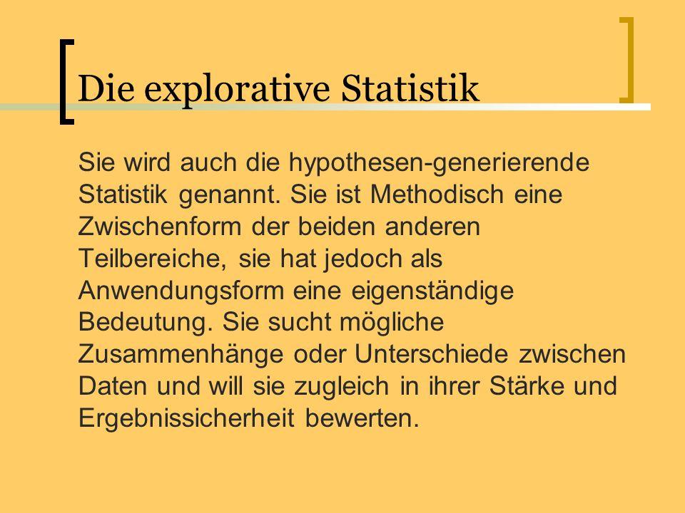 Die explorative Statistik