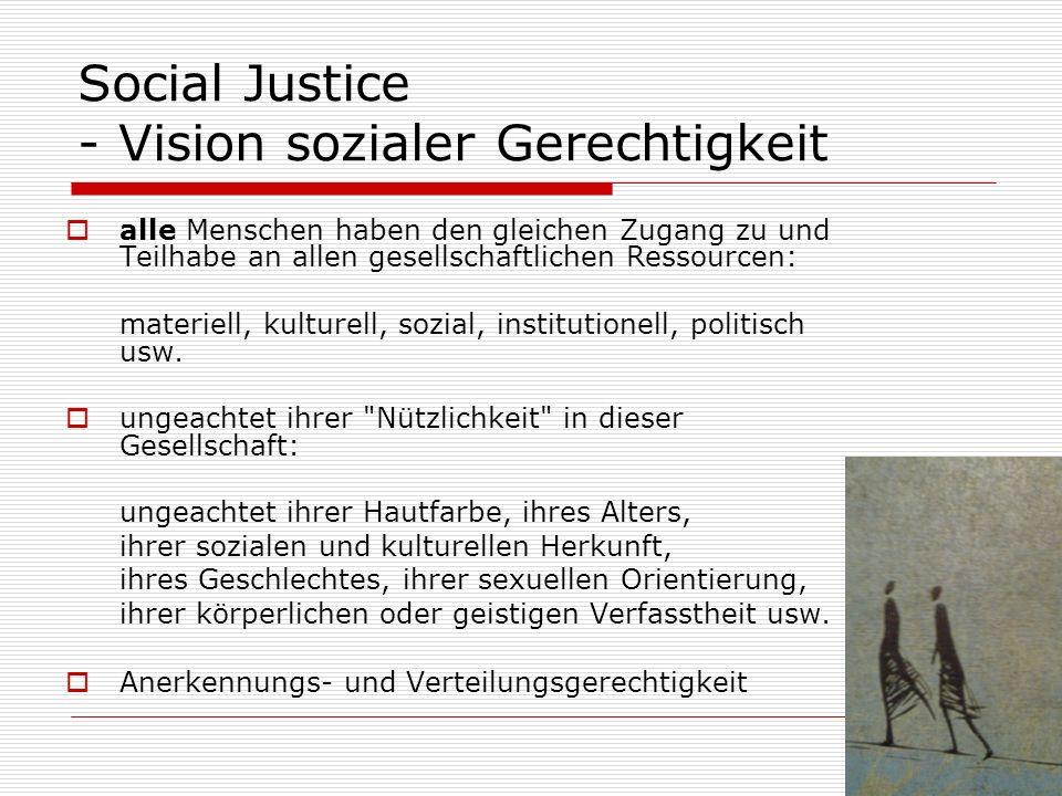 Social Justice - Vision sozialer Gerechtigkeit