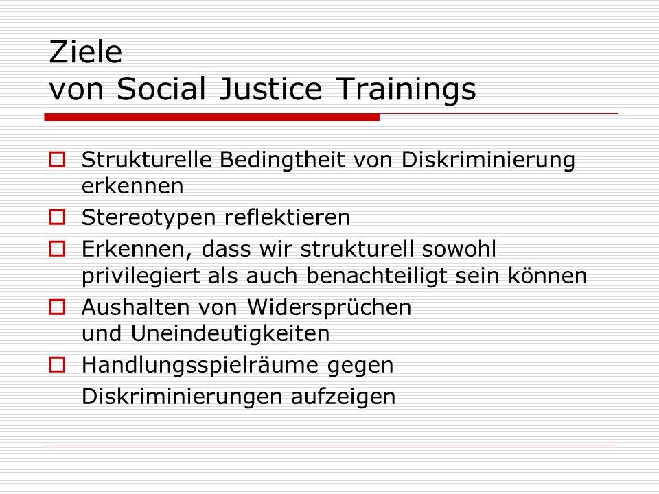 Ziele von Social Justice Trainings