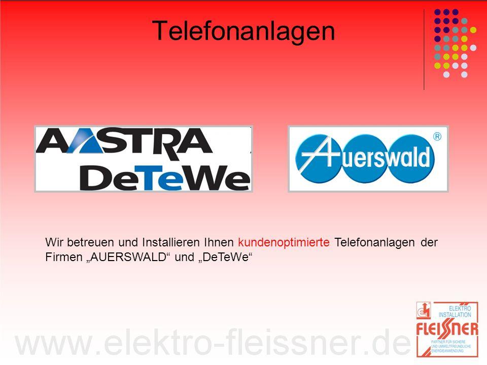 """Telefonanlagen Wir betreuen und Installieren Ihnen kundenoptimierte Telefonanlagen der Firmen """"AUERSWALD und """"DeTeWe"""