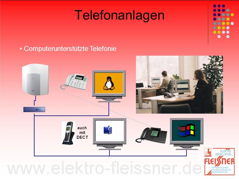 Telefonanlagen • Computerunterstützte Telefonie auch mit DECT