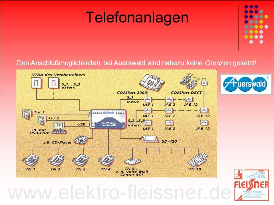 Telefonanlagen Den Anschlußmöglichkeiten bei Auerswald sind nahezu keine Grenzen gesetzt!