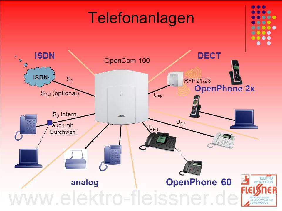 Telefonanlagen OpenPhone 60 DECT OpenPhone 2x analog OpenCom 100 ISDN