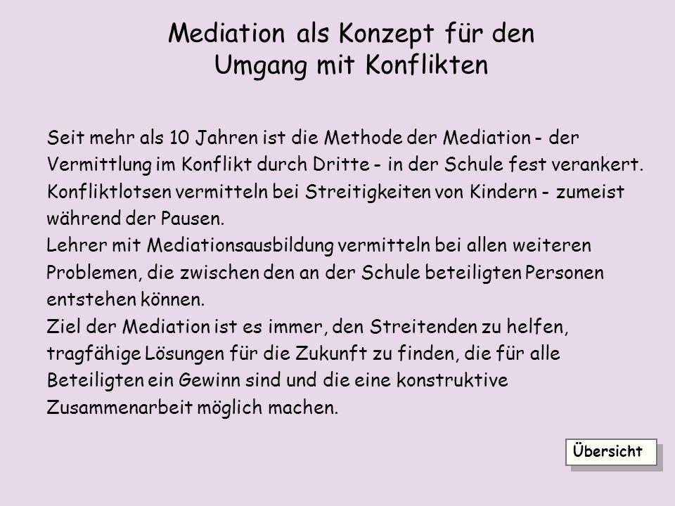 Mediation als Konzept für den Umgang mit Konflikten