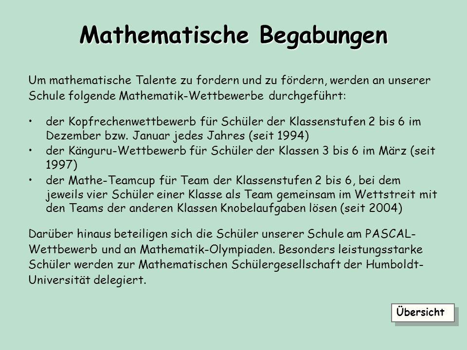 Mathematische Begabungen