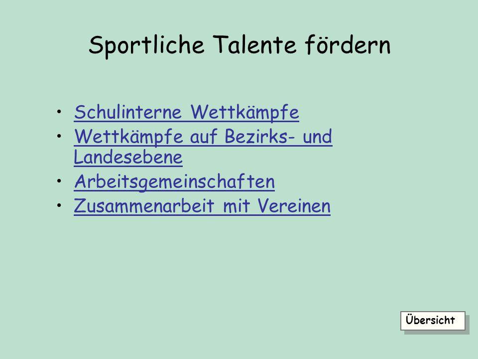 Sportliche Talente fördern
