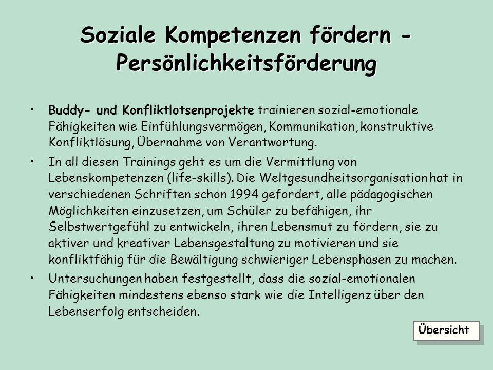 Soziale Kompetenzen fördern - Persönlichkeitsförderung