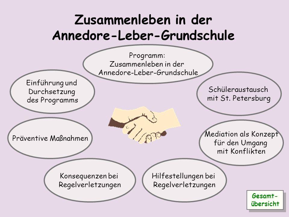 Zusammenleben in der Annedore-Leber-Grundschule