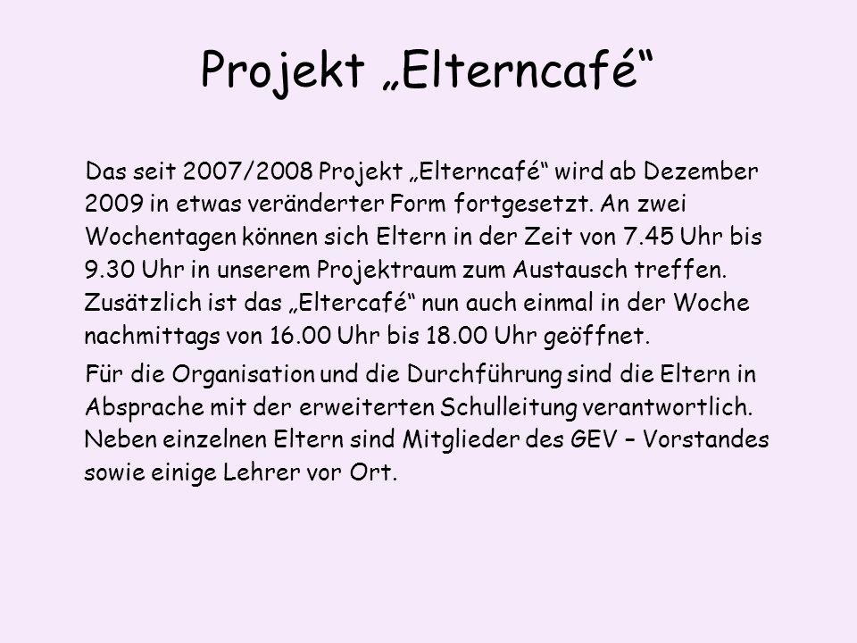 "Projekt ""Elterncafé"