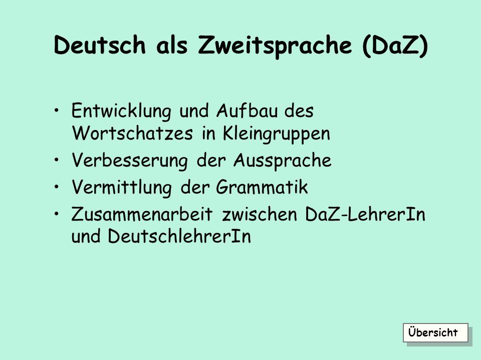 Deutsch als Zweitsprache (DaZ)
