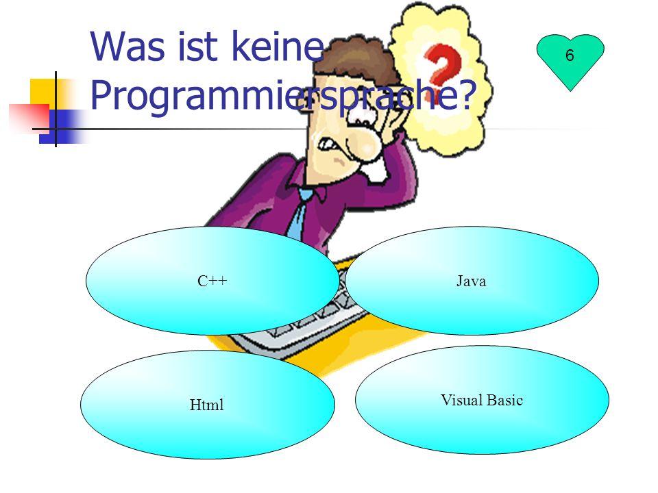 Was ist keine Programmiersprache