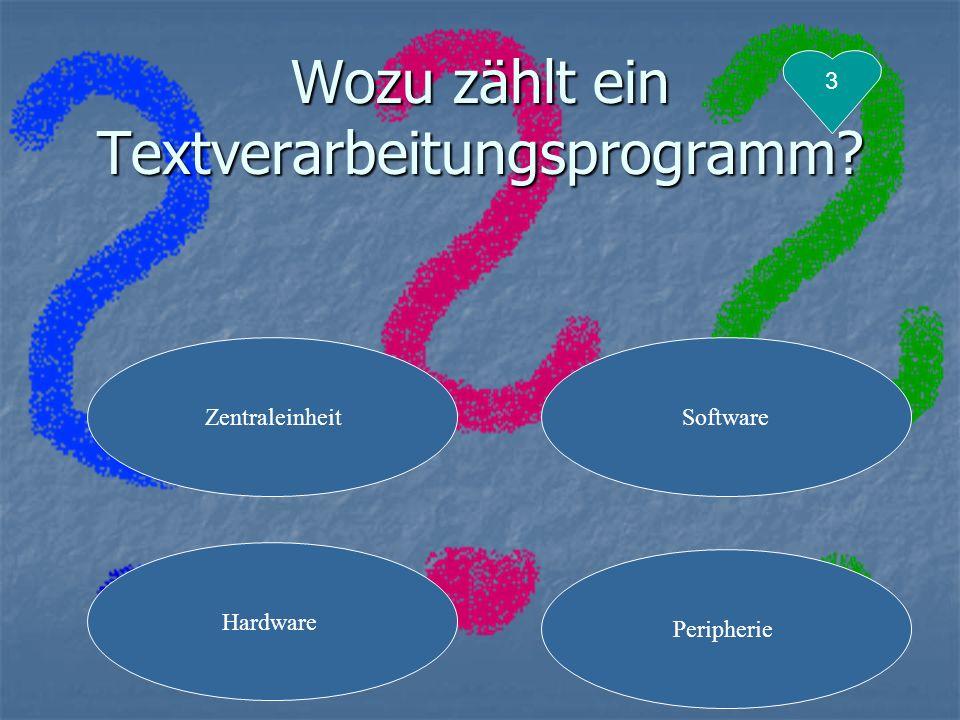 Wozu zählt ein Textverarbeitungsprogramm