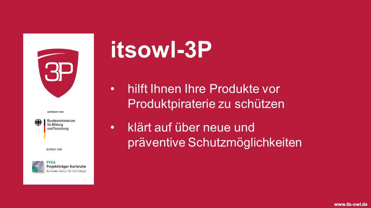 itsowl-3P hilft Ihnen Ihre Produkte vor Produktpiraterie zu schützen