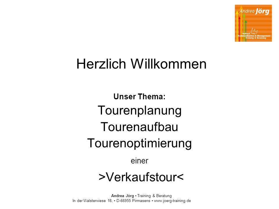 Herzlich Willkommen Tourenplanung Tourenaufbau Tourenoptimierung