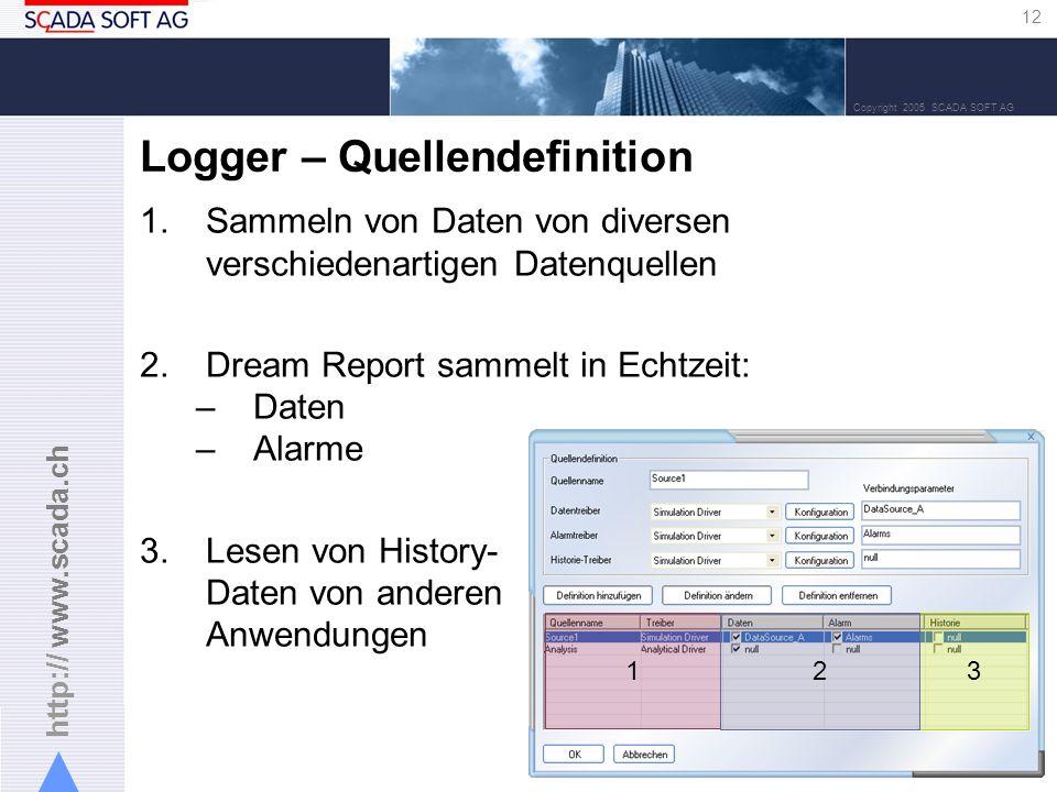 Logger – Quellendefinition