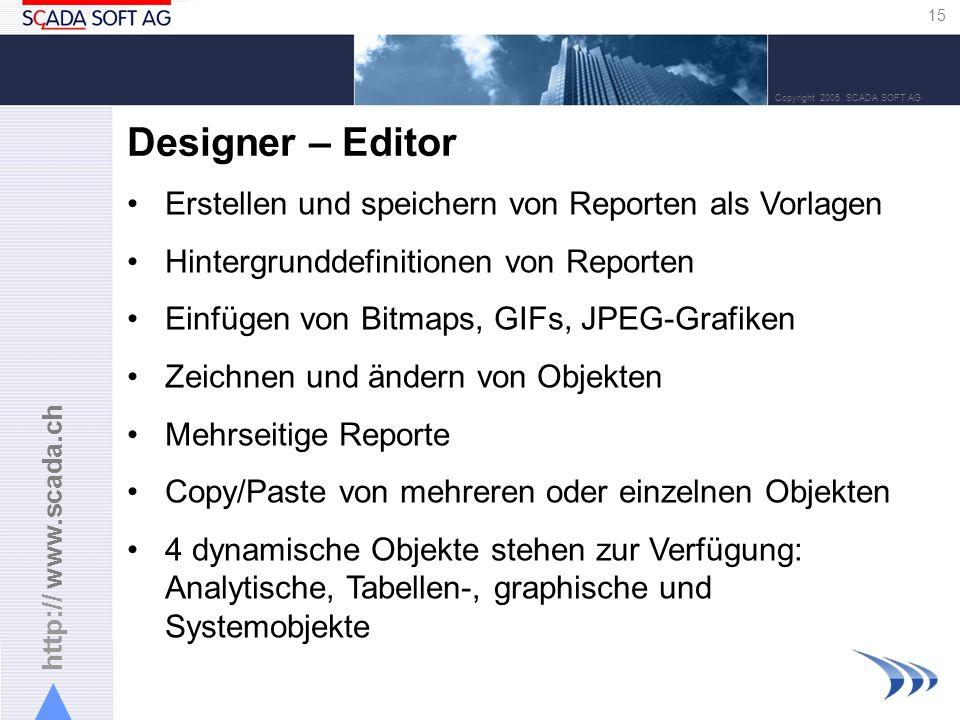 Designer – Editor Erstellen und speichern von Reporten als Vorlagen
