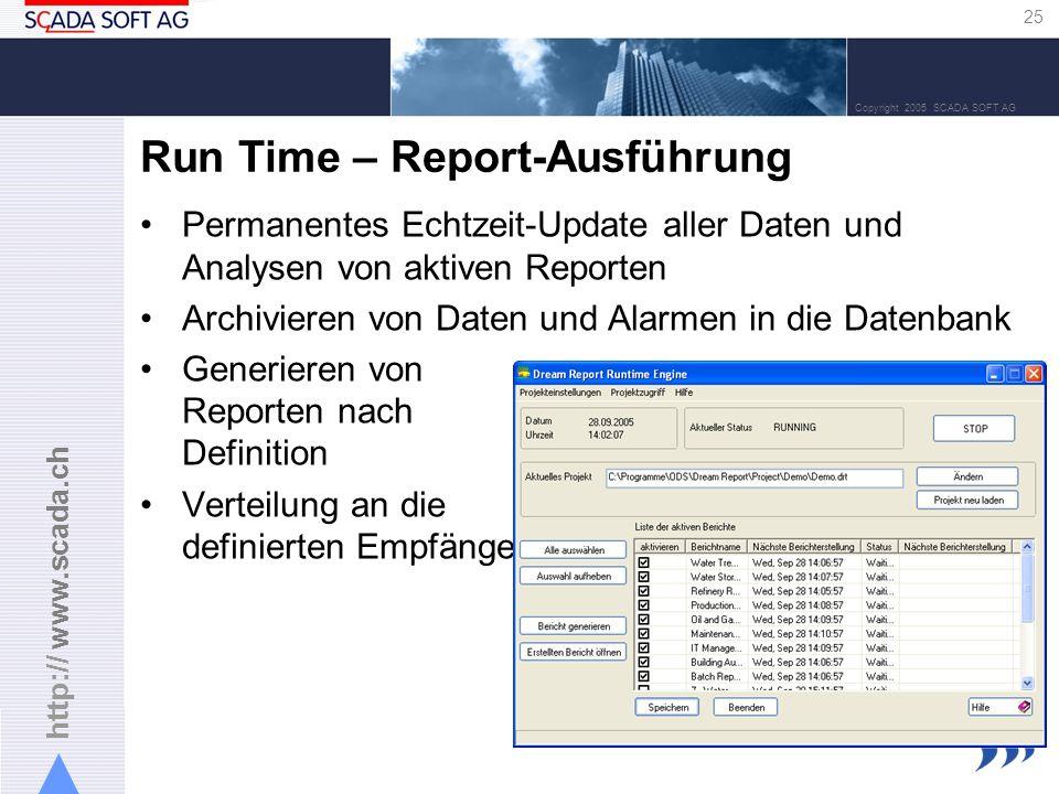 Run Time – Report-Ausführung