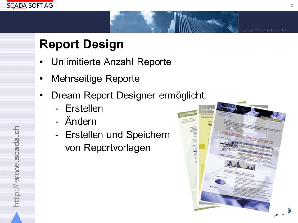 Report Design Unlimitierte Anzahl Reporte Mehrseitige Reporte