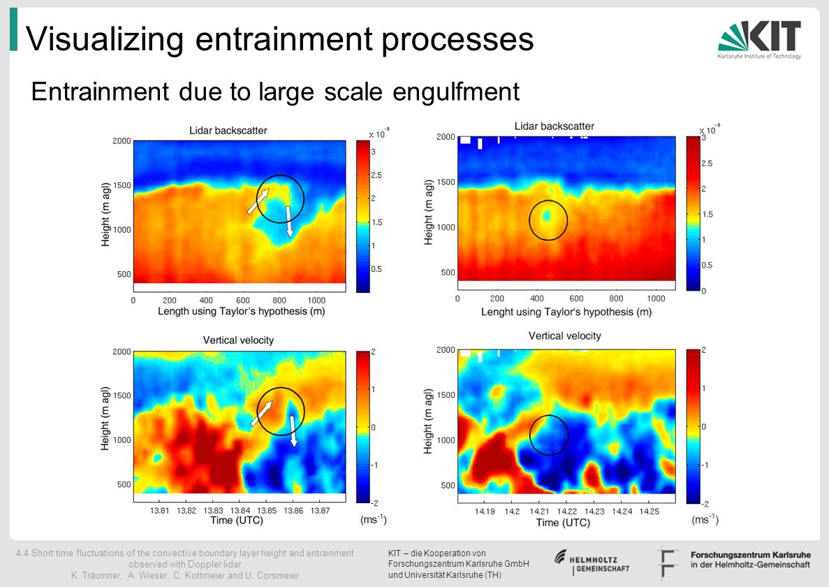Visualizing entrainment processes