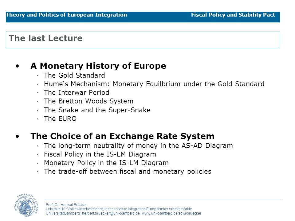 A Monetary History of Europe