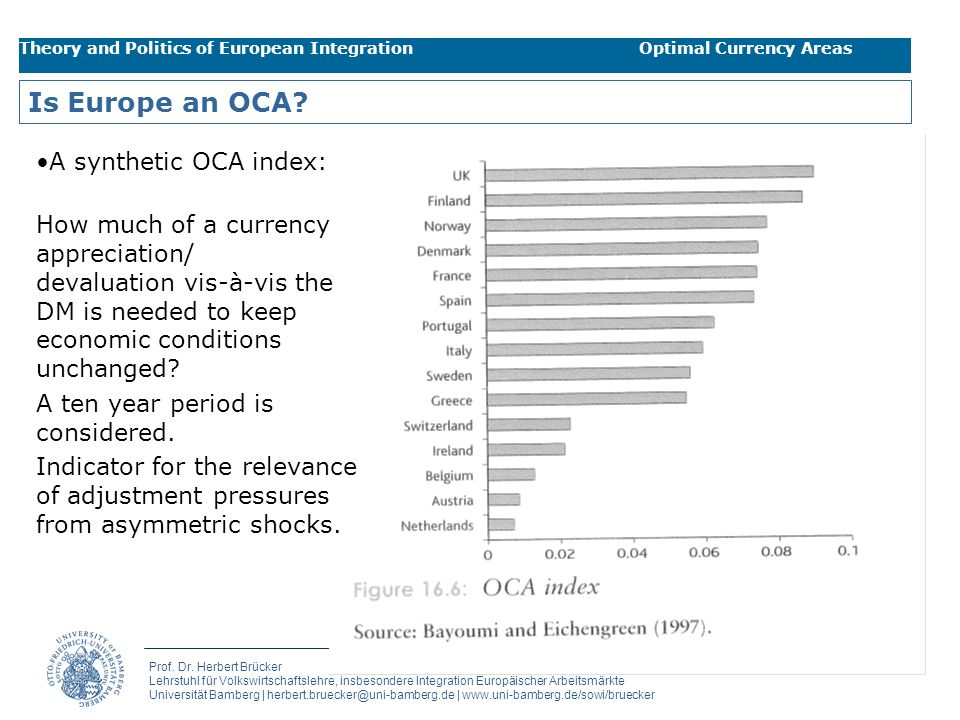 Is Europe an OCA A synthetic OCA index: