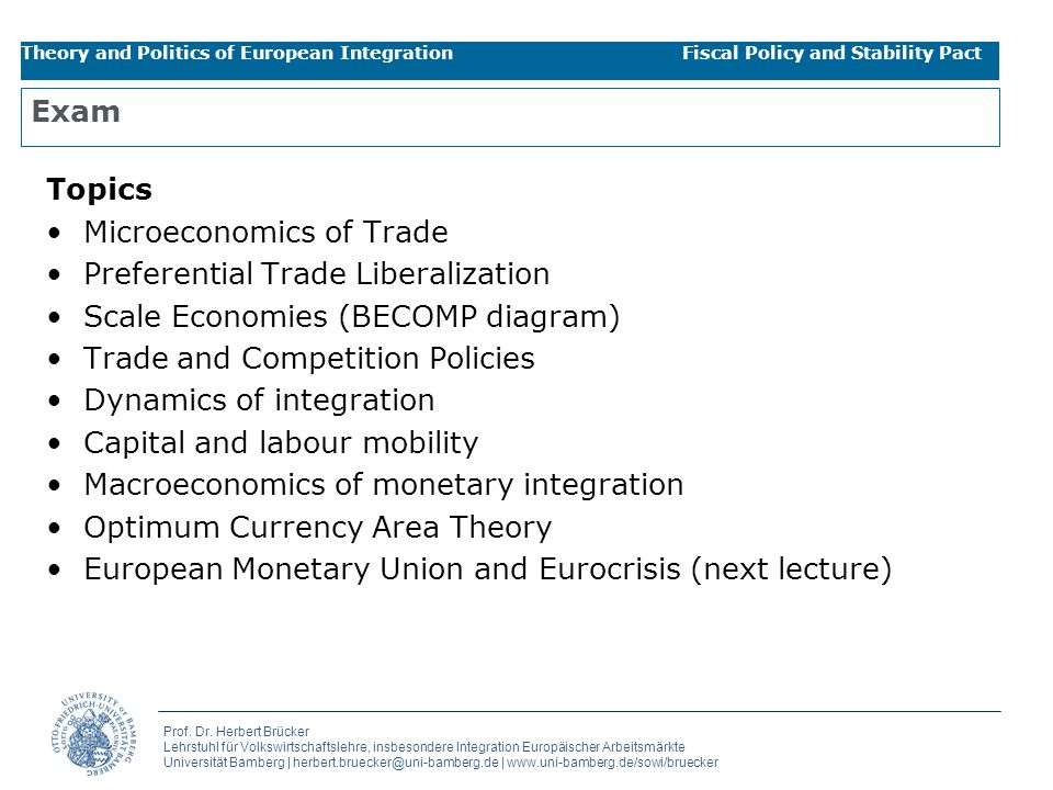 Microeconomics of Trade Preferential Trade Liberalization