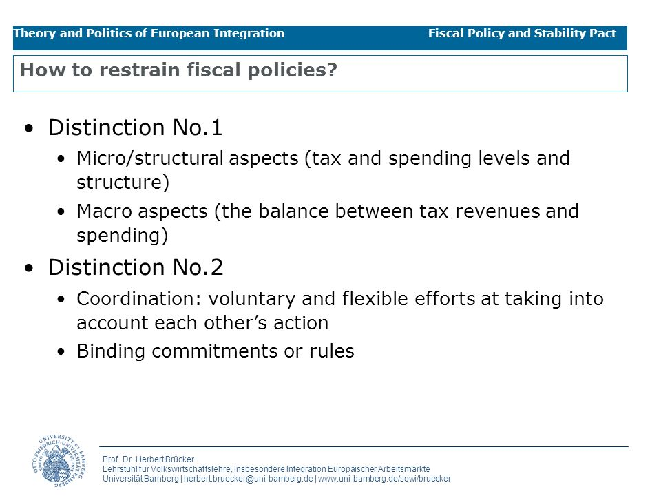 How to restrain fiscal policies