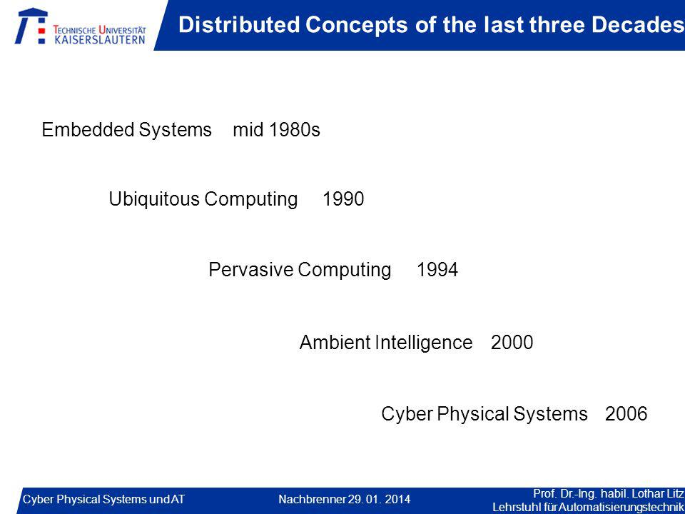 Distributed Concepts of the last three Decades