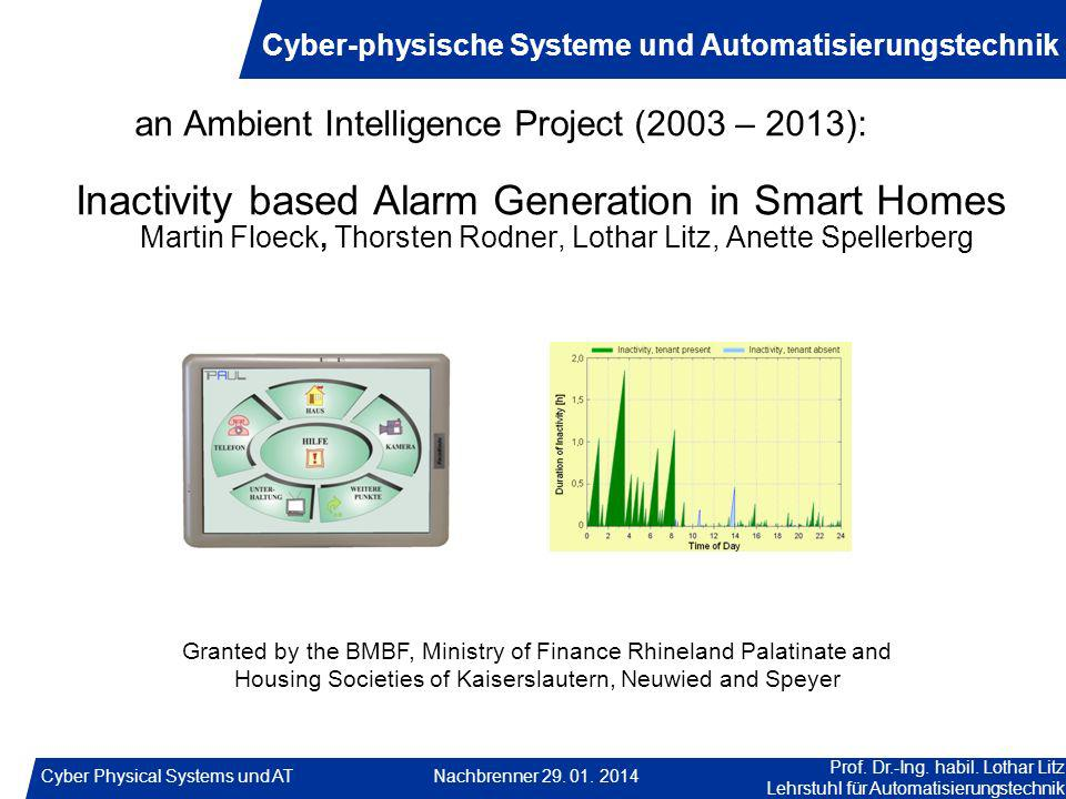 Inactivity based Alarm Generation in Smart Homes