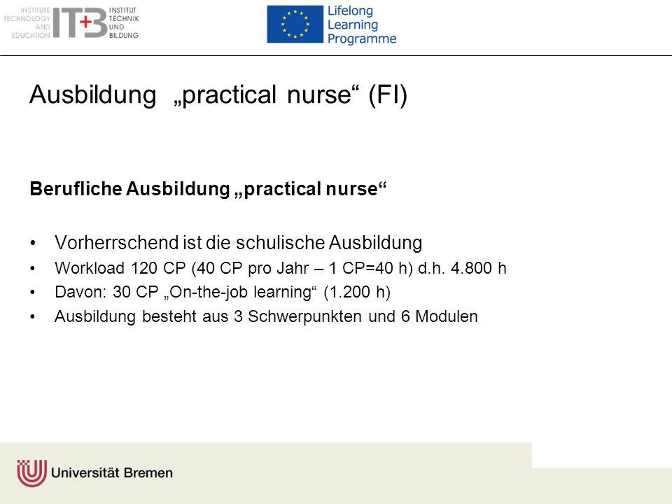 "Ausbildung ""practical nurse (FI)"