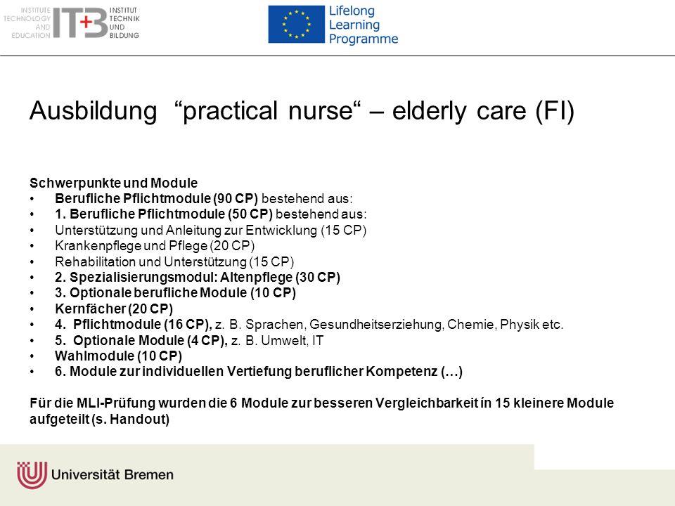 Ausbildung practical nurse – elderly care (FI)