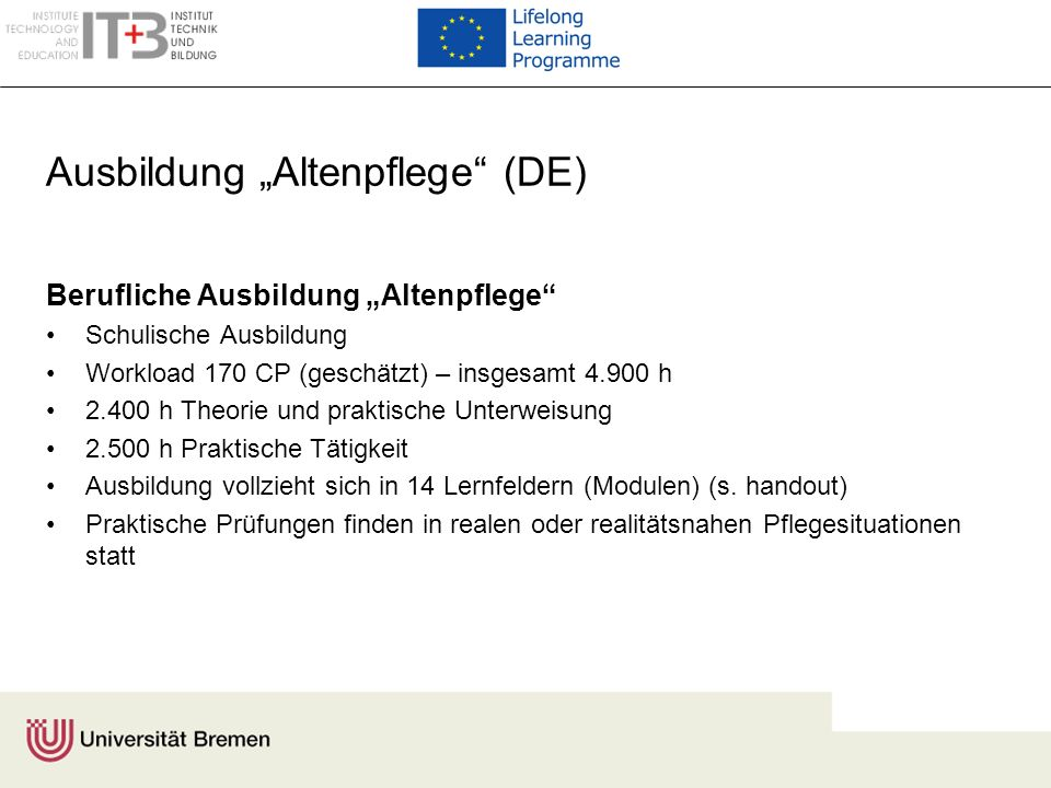 "Ausbildung ""Altenpflege (DE)"