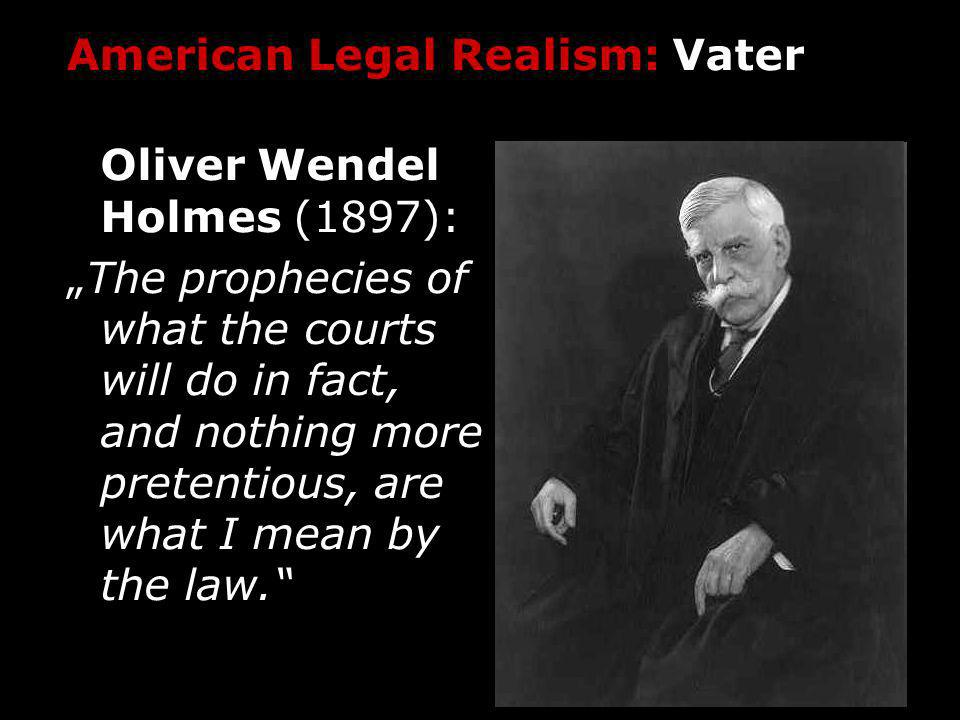 American Legal Realism: Vater