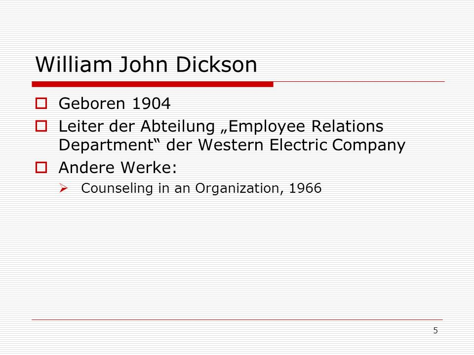 William John Dickson Geboren 1904