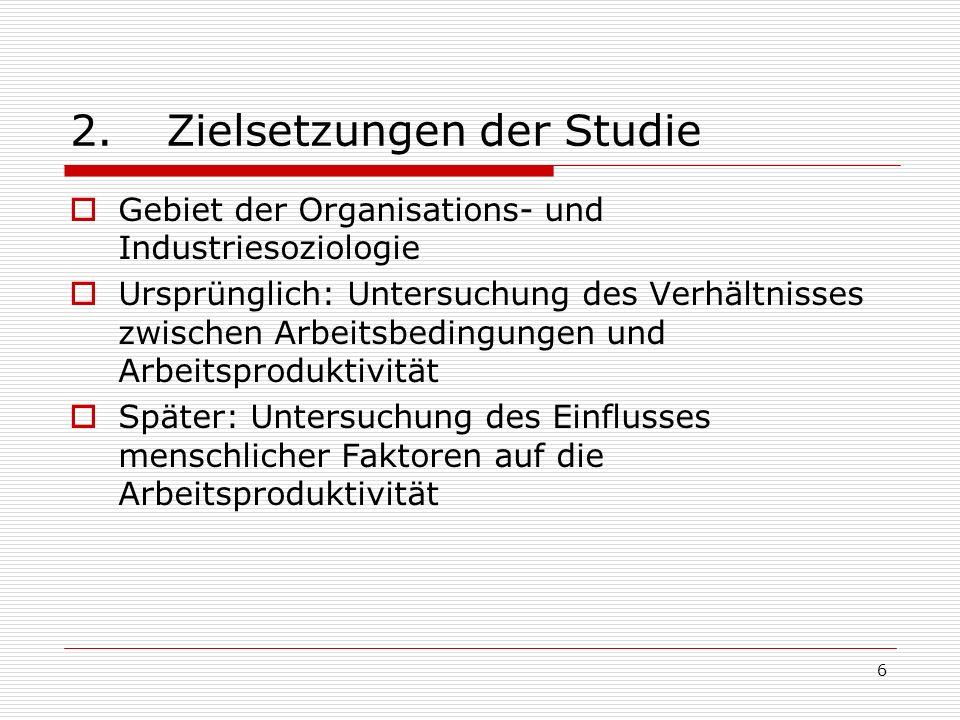 2. Zielsetzungen der Studie