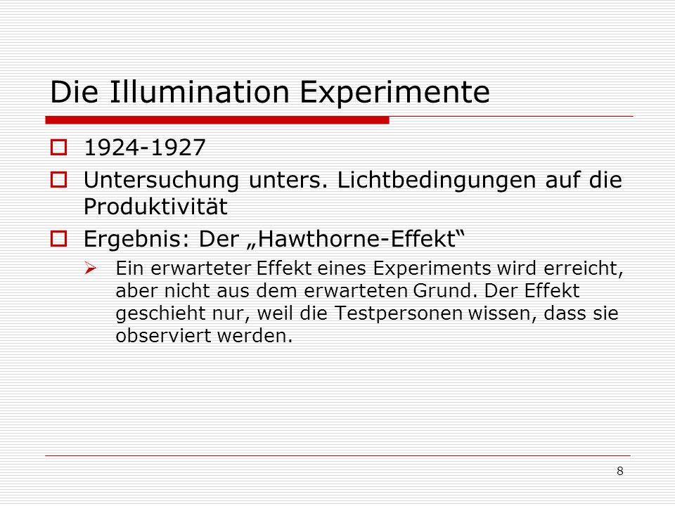 Die Illumination Experimente