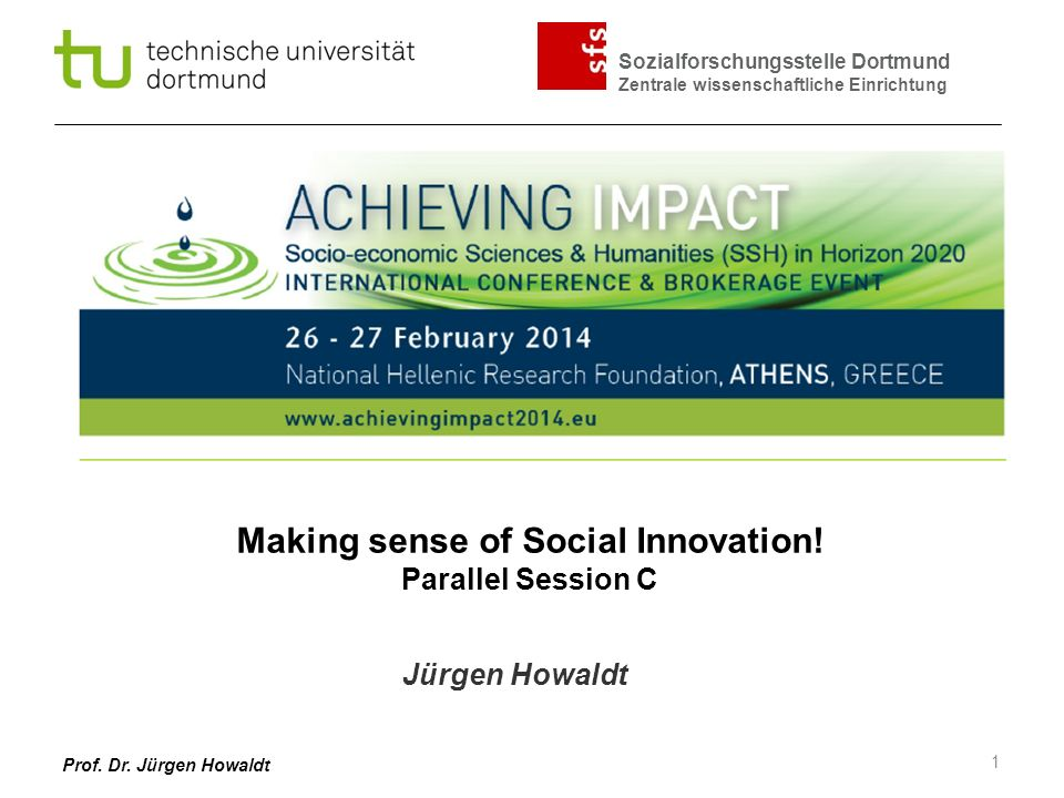 Making sense of Social Innovation! Parallel Session C