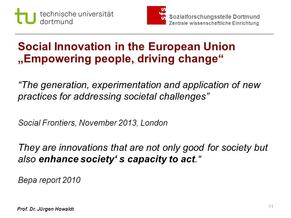 Social Innovation in the European Union